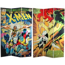Tall Double Sided The Uncanny X-Men Room Canvas Divider