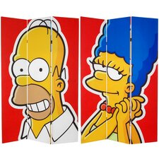 Tall Double Sided Homer and Marge Canvas Room Divider