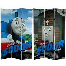 Tall Double Sided Thomas Greetings from Sodor Canvas Room Divider