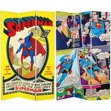 Tall Double Sided Superman No. 1 Canvas Room Divider
