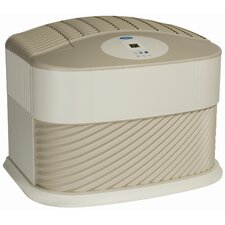 Console Style Evaporative Air Whole House Humidifier in Khaki and White