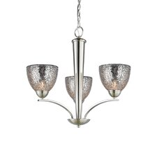 North Bay 3 Light Chandelier with Mosaic Bell Glass