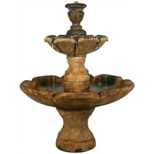 Tiered Cast Stone Finial Cascade Fountain