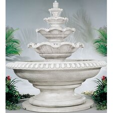 Tiered Cast Stone Palazzo Quattro Waterfall Fountain