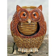 Porcelain Owl Fountain