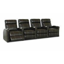 Shubert Home Theater Bonded Leather Recliner (Row of 4)
