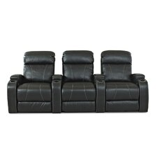 Astor Place Home Theater Bonded Leather Recliner (Row of 3)