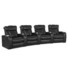 New Amsterdam Home Theater Bonded Leather Recliner (Row of 4)