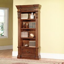 Grand Manor Granada Museum Bookcase in Antique Vintage Walnut