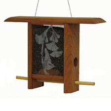 Ginko Leaves Teahouse Bird Feeder