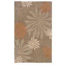 Fashion Taupe Florals Float Rug