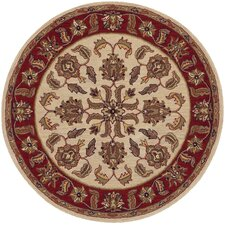 Shapes Ivory/Red Traditional Floral Rug