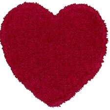 Senses Shag Pink Heart Kids Rug