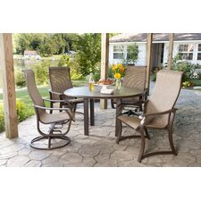 Quick Ship Villa Sling 5 Piece Dining Set