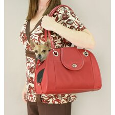 Small Open Tote Pet Carrier in Red