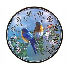 James Hautman Indoor / Outdoor Bluebird Thermometer