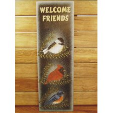 Welcome Friends Bird Garden Sign