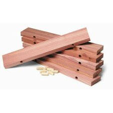 Shoe Rack Extenders in Natural Cedar Finish (Set of 6)