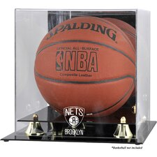 NBA Golden Classic Logo Basketball Display Case