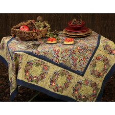 Winter Garden Wreath Tablecloth