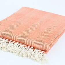 Nine Space Herringbone Bamboo Viscose Throw Blanket