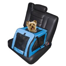 Small Soft Travel Pet Crate in Blue Aqua