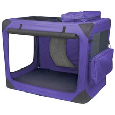 Generation II Deluxe Portable Soft Dog Crate in Lavender - Intermediate