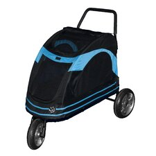Roadster Pet Stroller in Black / Blue
