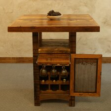 Riverwoods Pub Table with Wine Cabinet