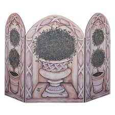 Topiary 3 Panel MDF Fireplace Screen