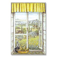 Provence with Pears Wooden Faux Window Scene
