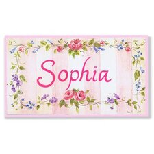Kids Room Personalization Stripe Wall Plaques
