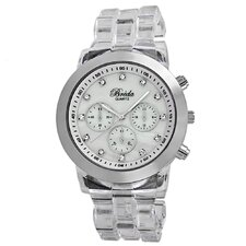 Women's Brooke Oversized Mother of Pearl Watch in Clear / Silver