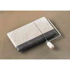 The Byzantine Two Tone Marble Cheese Slicer in Charcoal / Champagne
