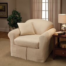 Microsuede Two Piece Chair Slipcover