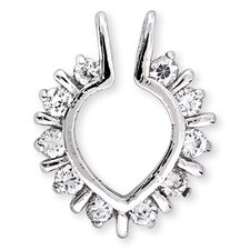 Round Diamond Illusion Heart Outline Pendant