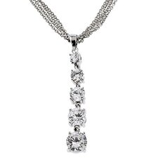 Journey Cubic Zirconia Diamond Pendant Jewellery