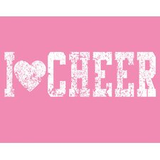 I Heart Cheer Wall Art Print