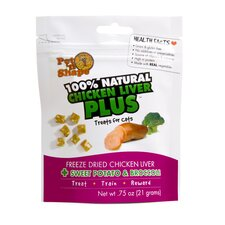Freeze Dried Chicken Liver Plus Sweet Potato and Broccoli Cat Treats - 0.75 oz.