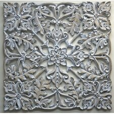 Clay Daisy Wall Décor Art in Antique White Clay