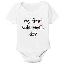 First Valentine's Day Organic Bodysuit