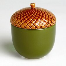 Foxy Fall Acorn Filled Candlepot