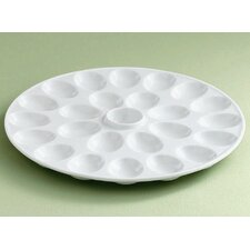 Whiteware Round Deviled Egg Platter