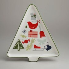Twas The Night Happy Holidays Tree Platter