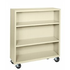 "48"" H Three Shelf Mobile Bookcase"