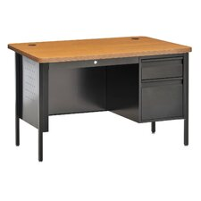 Steel Teachers Desk with Pierced Side Panels