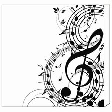 "20"" Musical Notes Canvas Art"