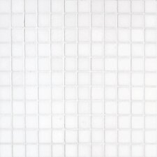 "Thassos 12"" x 12"" Polished / Tumbled Marble Mosaic in White"