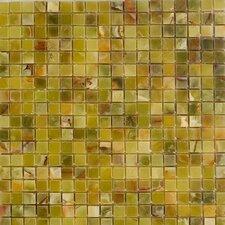 "12"" x 12"" Polished Onyx Mosaic in Verde"