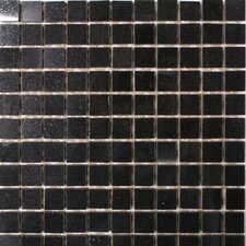 "12"" x 12"" Polished Granite Mosaic in Absolute Black"